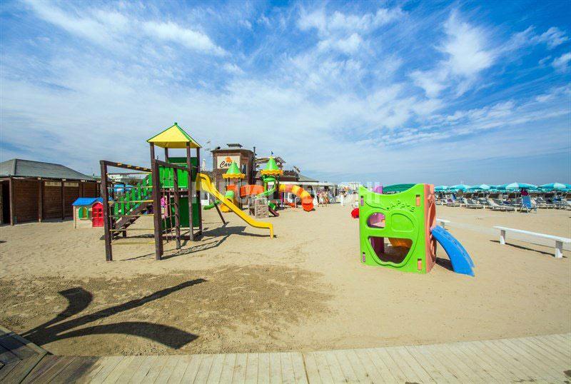 Area giochi spiaggia Rimini